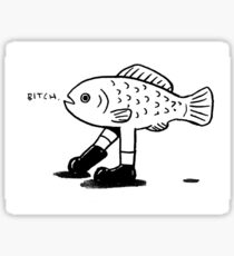 Fish with legs Sticker