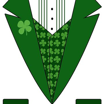 Irish Green Tuxedo T-Shirt by CuteNComfy