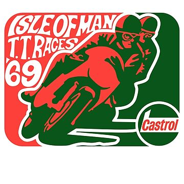 Isle Of Man 1969 Sticker & Shirt by TheScrambler