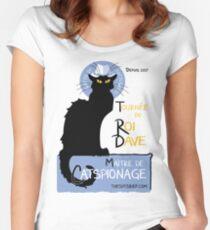 King Dave, Maitre de Catspionage Women's Fitted Scoop T-Shirt