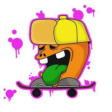 Do a Kickflip Graffiti style cartoon by Stinky1138