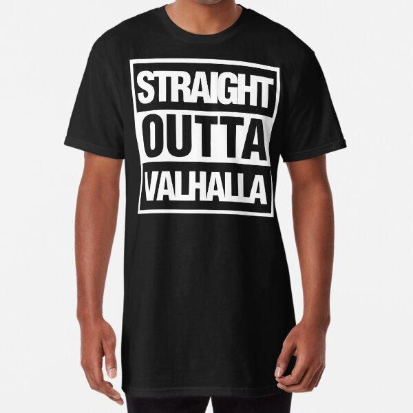 Straight Outta Valhalla VIking Valkyrie Mens T Shirt