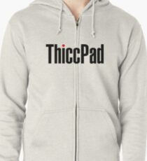 ThiccPad - White Version Zipped Hoodie