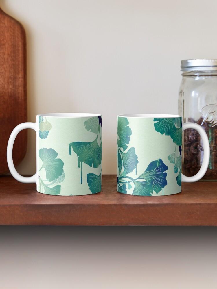 Alternate view of O Ginkgo (in Green) Mug