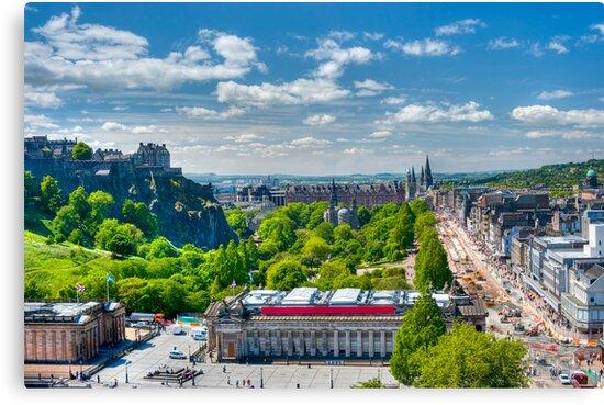 Edinburgh Castle View: Capital City of Scotland by DonDavisUK