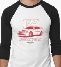 EVO6 (red) Men's Baseball ¾ T-Shirt