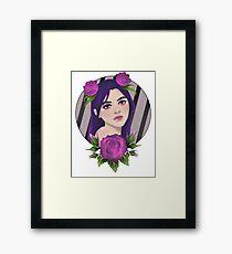 Purple Roses Framed Print