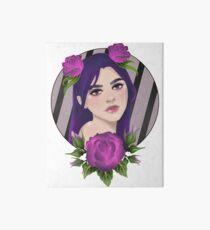 Purple Roses Art Board