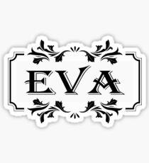 Frame Name Eva Sticker