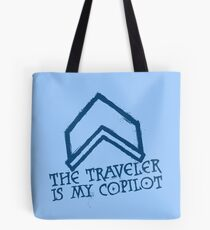 The Traveler Is My Copilot Tote Bag