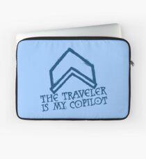 The Traveler Is My Copilot Laptop Sleeve