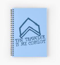 The Traveler Is My Copilot Spiral Notebook