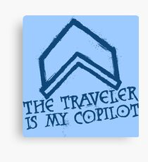 The Traveler Is My Copilot Canvas Print
