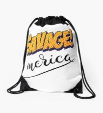 Savage Merica Words Millennials Use Drawstring Bag