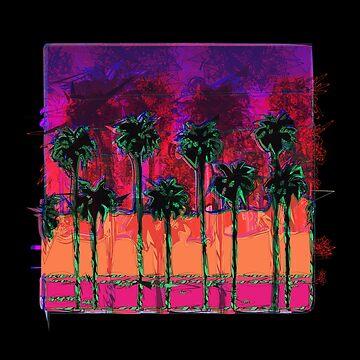 DARK SUMMER PALM TREES by WildUnit