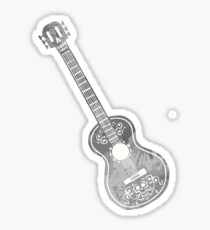 Guitar Inspired Silhouette Sticker