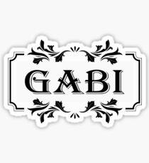 Frame Name Gabi Sticker