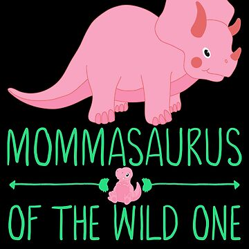 Momma Saurus T shirt baby saurus green by FutureInTheAir