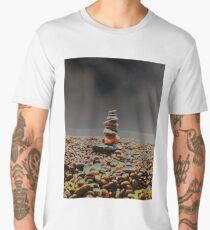 Abstract pebble tower Men's Premium T-Shirt