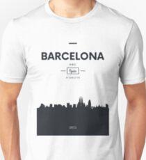 Poster city skyline Barcelona Unisex T-Shirt