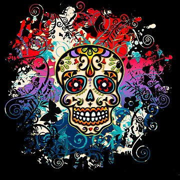 Mexican Sugar Skull, Day of the Dead, Dia de los muertos by nitty-gritty