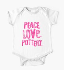 Pottery Design Peace Love Pink Artist Gift Light One Piece - Short Sleeve