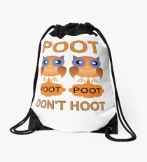 Two Poots not Two Hoots Drawstring Bag