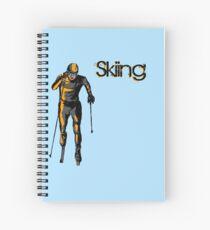 skiing Spiral Notebook