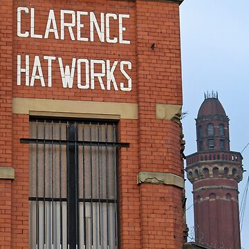 Clarence Hat Works, Salford, with Strangeways in the background by Spinneyhead