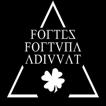 FORTES FORTUNA ADIUVAT-Latin Quotes Shirt - smart aleck T-Shirt - nerd T Shirt  by XLXDesign