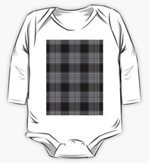 Pattern Black Checkered One Piece - Long Sleeve