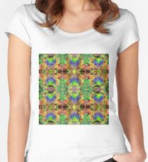 Painted Skies Psychedelic Women's Fitted Scoop T-Shirt