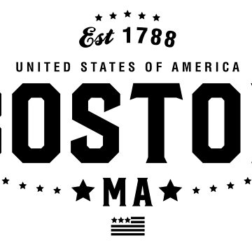 Boston Massachusetts State MA Pride Home America City Souvenir Vacation Memory wanderlust road trip USA Gift Love Year by CarbonClothing