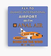 Fly to Quahog International Airport wth Anal Air Canvas Print