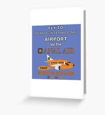 Fly to Quahog International Airport wth Anal Air Greeting Card