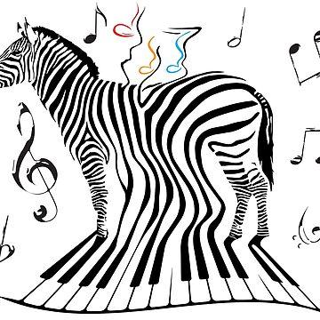 Zebra Piano by TeeShow