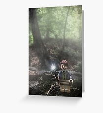 Brickography Pictures - Lupin Greeting Card