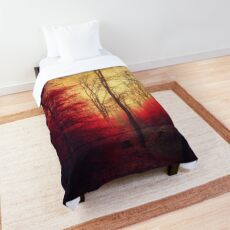 Ruby Red Forest Comforter