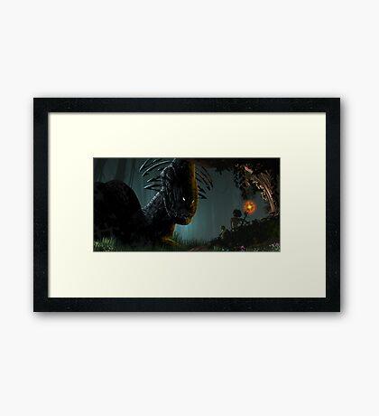 Friend or Foe Framed Print