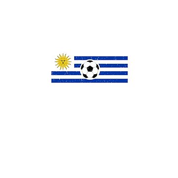 Uruguay Flag - Rusia 2018, Camiseta Futbol, Soccer supporter t-Shirt by T-Heroes