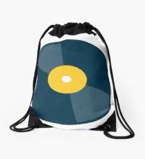 Put your records on! Drawstring Bag