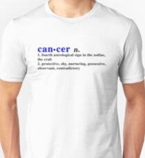 Zodiac Definitions: Cancer Unisex T-Shirt
