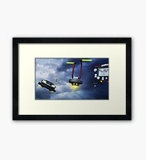Welcome to Hill Valley - Please Fly Safely Framed Print