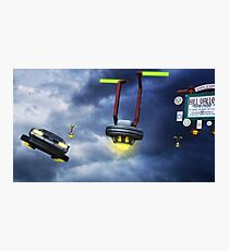 Welcome to Hill Valley - Please Fly Safely Photographic Print