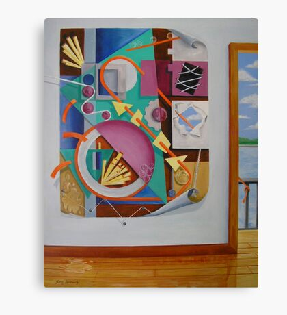 A Painting in a Painting with Doorway Canvas Print