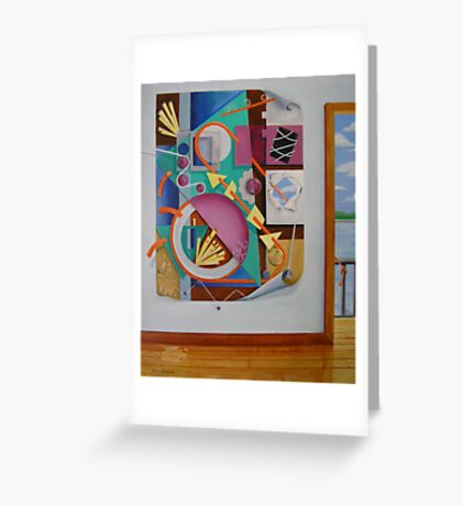 A Painting in a Painting with Doorway Greeting Card