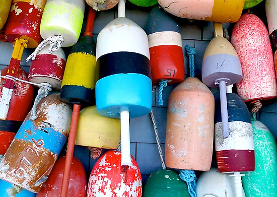 Cape Cod Lobster Buoys by Christopher Seufert