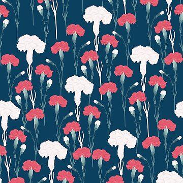 pink carnation von youdesignme