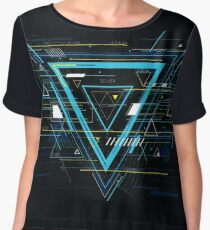 Tech futuristic abstract backgrounds, colorful triangle Chiffon Top