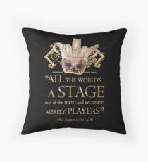 Shakespeare As You Like It Stage Quote Throw Pillow